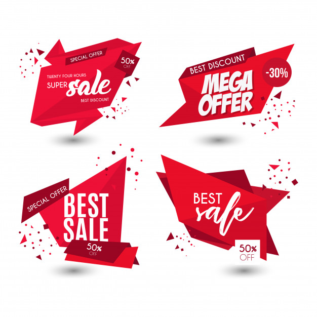 Modern Offer Sale Banners Free Vector