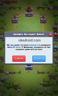 Google Account Alert Clash Royale Android