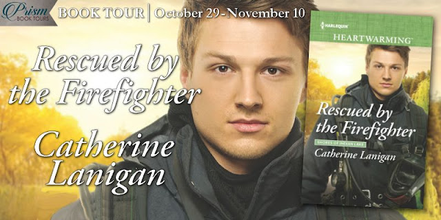 Rescued by the Firefighter book tour banner