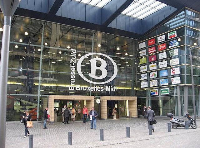 Estação de trem em Bruxelas