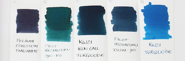 KWZI Iron-Gall Turquoise ink