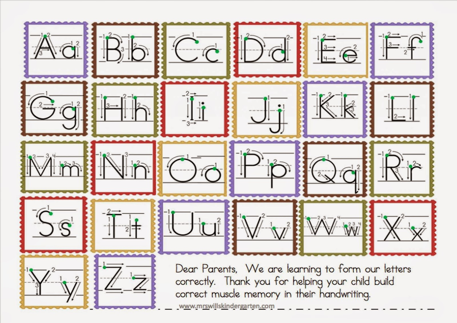 Mrs Hayman S Class Blog Letter Formation Sheet For Parents