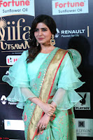 Samantha Ruth Prabhu Smiling Beauty in strange Designer Saree at IIFA Utsavam Awards 2017  Day 2  Exclusive 27.JPG