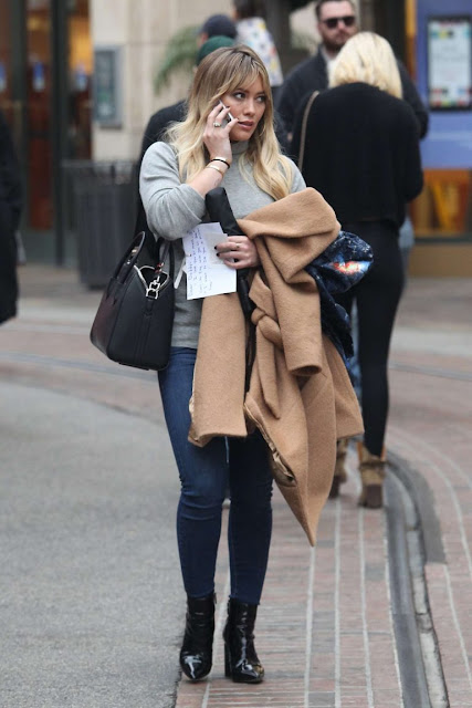 Hilary Duff – Christmas Shopping at The Grove in LA