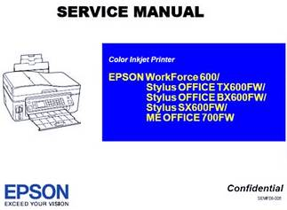 Epson Tx600FW Resetter Download