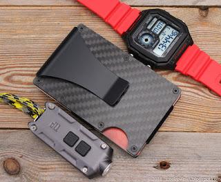 SKMEI 1299 watch, CF slim wallet and Nitecore TIP