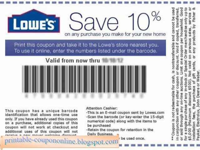 How to Use Lowe's Coupons It's possible to save % on appliances using Lowe's coupon and promo codes. You might also find a coupon for a specific dollar amount off a particular brand or department.