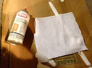 apply spray adhesive on felt