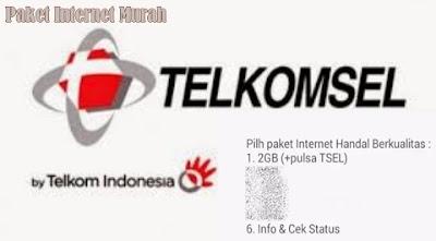 Cara Daftar Paket Internet Telkomsel 2 GB