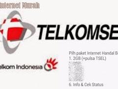 Cara Daftar Paket Internet Telkomsel 2 GB + Gratis Pulsa 25 Ribu
