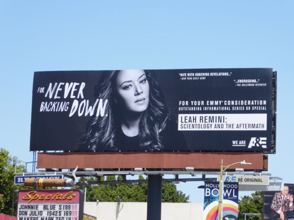 Leah Remini Scientology Aftermath Emmy billboard