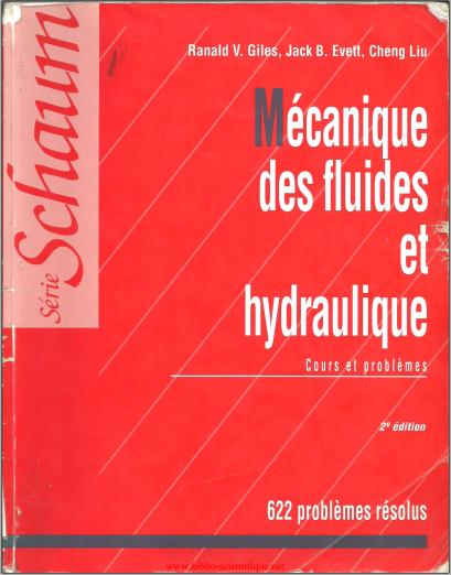 Livre : Mécanique des fluides et hydraulique, cours et problèmes - Série Schaum PDF