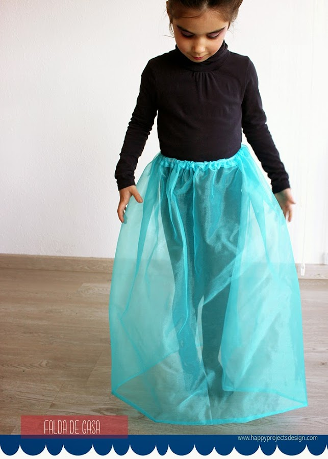DIY Disfraz de Elsa: fada de gasa