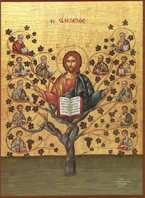Eu Sou a Videira - Ícones para grupo de oração, seminário de vida no Espírito Santo e eventos