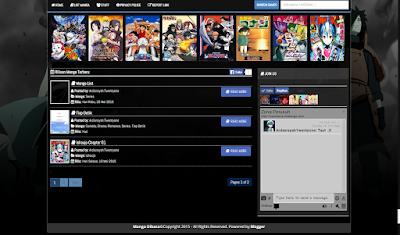 Manga Dibaca Premium Blogger Template