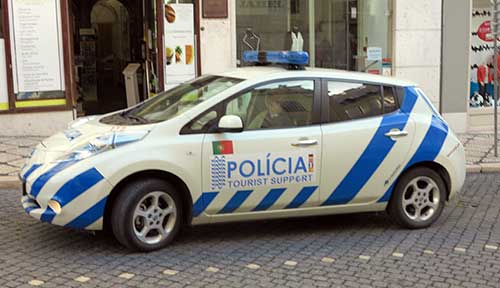 Police in Lisbon.