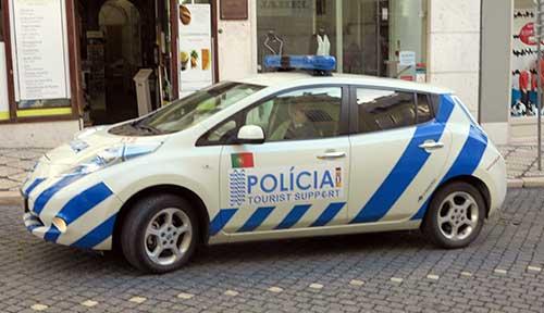 Police in Lisbon.