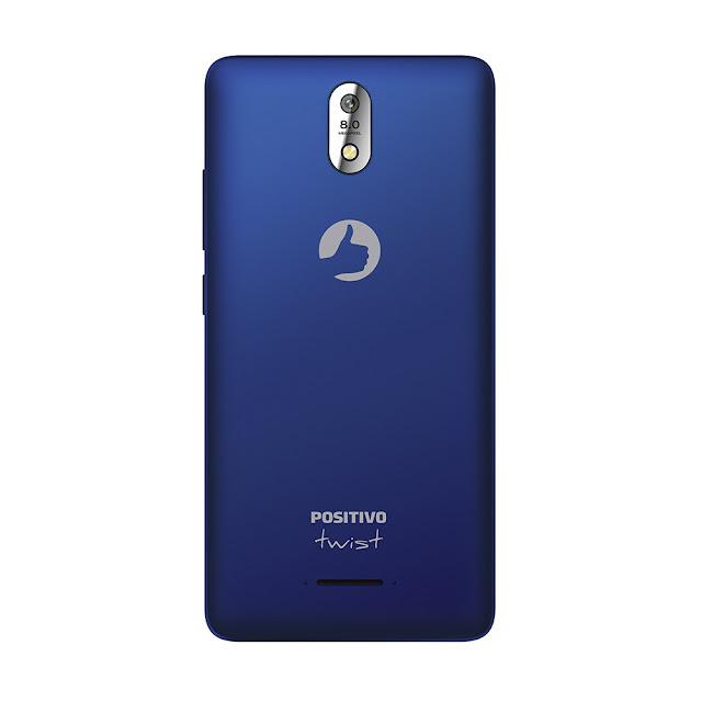 Desfrute da tecnologia de maneira muito mais moderna: Smartphone Positivo Twist 4G