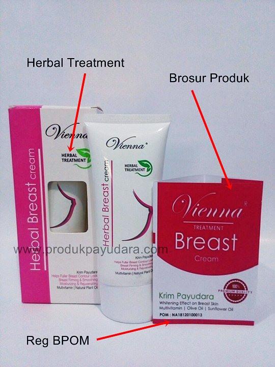Tanda Bukti Vienna Breast Herbal Cream Original