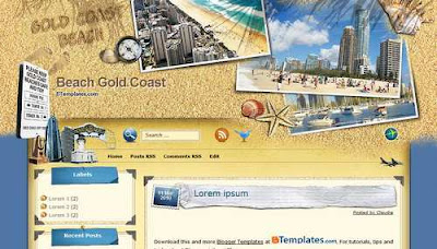 Beach Gold Coast Blogger Templates