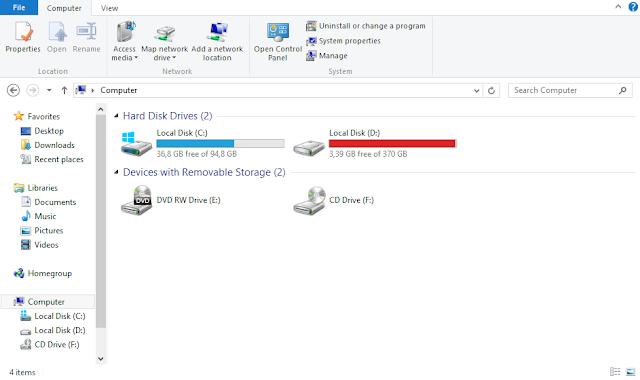 Flashdisk tidak terbaca pada Windows Explorer file manager