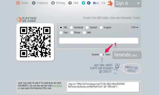 """ـ كيفية صناعة """"رمز استجابة سريع"""" QR Code لأي نص أو رابط مجانًا how-to-Kaywa-RQ-Code"""