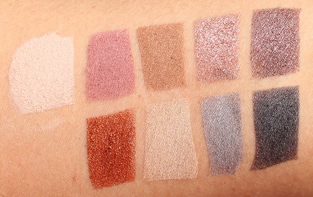 Swatches of TheBalm Appetit Eyeshadow Palette