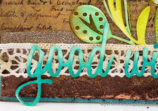 Layers of ink - Inky Blossoms Card Tutorial by Anna-Karin Evaldsson. Die cut a sentiment.