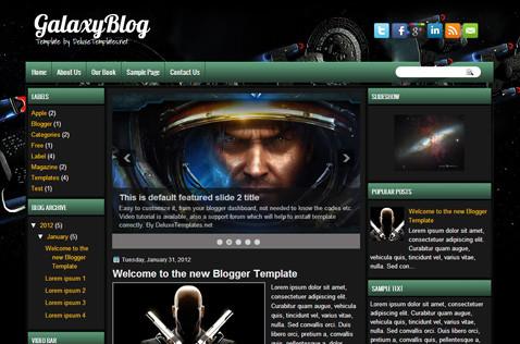 Galaxyblog Blogger Template