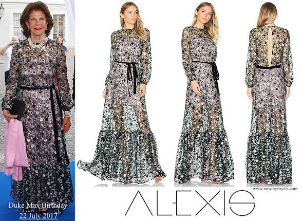 Queen Silvia wore Alexis Holly Gown in Sequin Garden