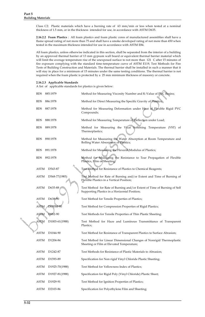 Bangladesh National Building Code: PART FIVE: Chapter 2