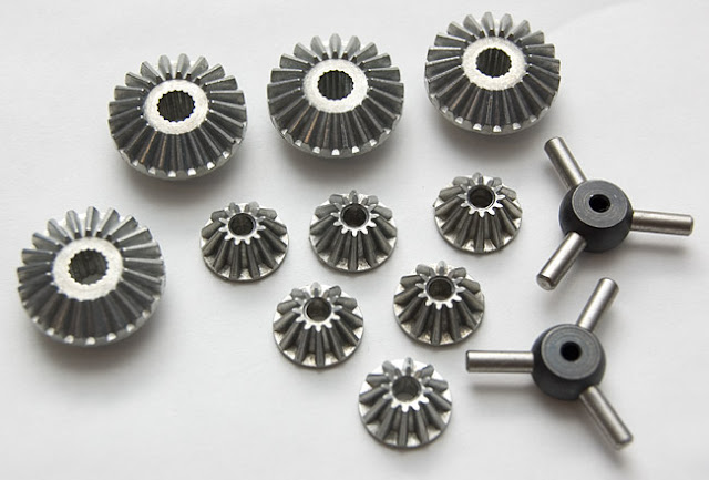 Tamiya CR-01 Toyota Land Cruiser spider gears