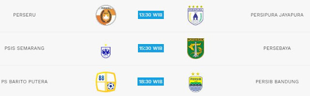 Jadwal Liga 1 Minggu 22 Juli 2018