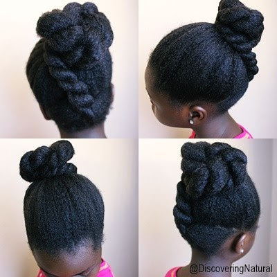 Elegant Classy Natural Hair Hairstyle for Kids