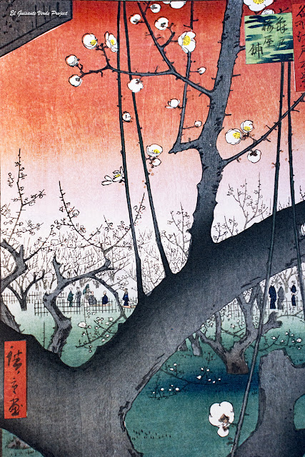 Hiroshige, Ciruelo en Flor - Ota Memorial Museum, Tokio, por El Guisante Verde Project