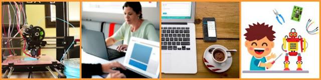 Imatges de les activitats del Punt TIC