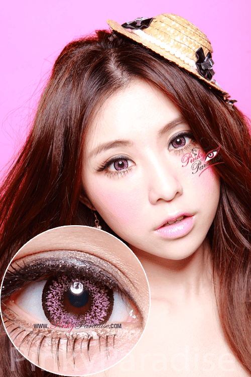 Geo Super Size Nudy Pink Circle Lenses (Colored Contacts)