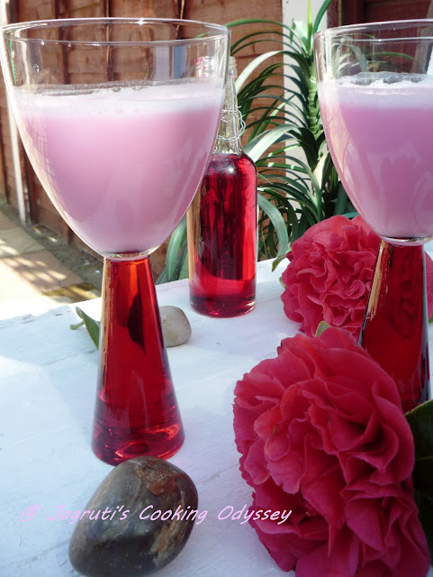 how to make rose flavoured lassi