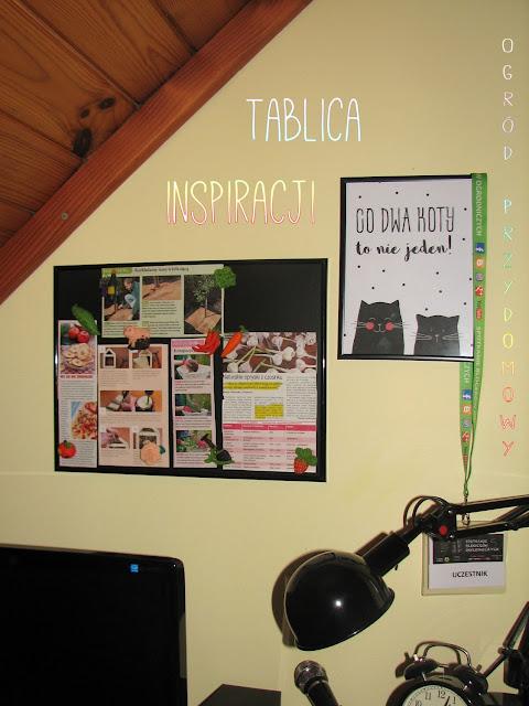 tablica inspiracji, ogrodnicze magnesy z modeliny, ogród przydomowy