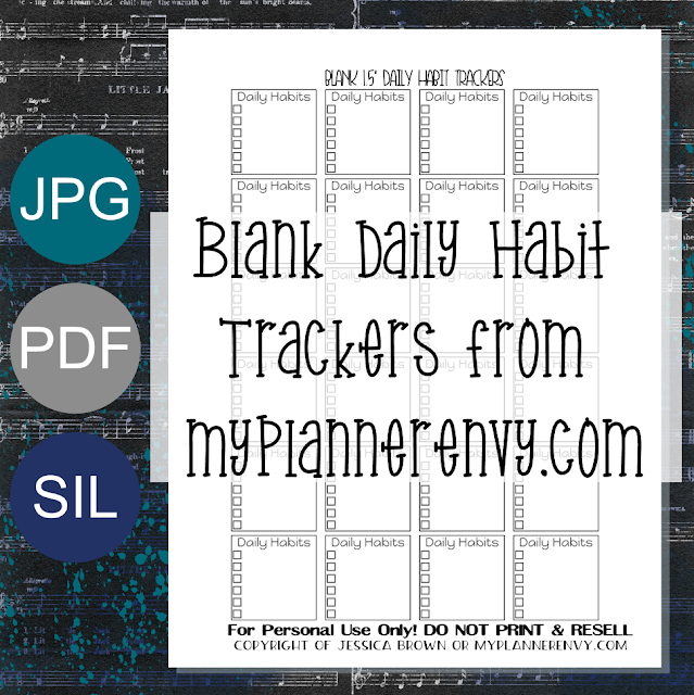 "Free Printable 1.5"" Wide Daily Habit Trackers from myplannerenvy.com"