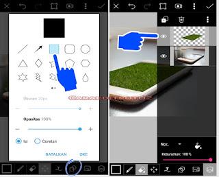 Cara edit foto 3D efek picsart
