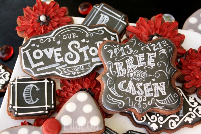 Chalkboard Wedding Cookies