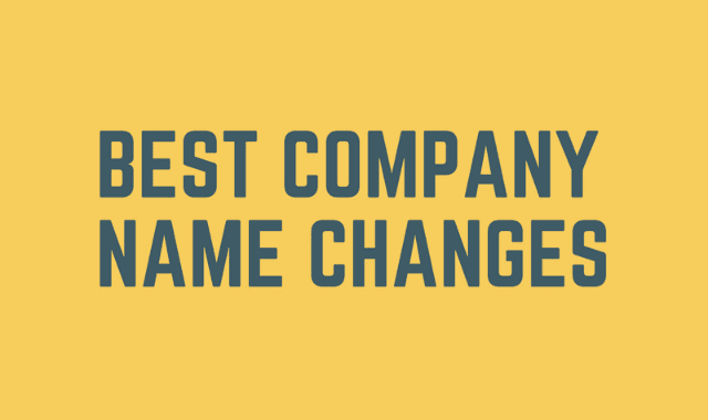 Best Company Name Changes