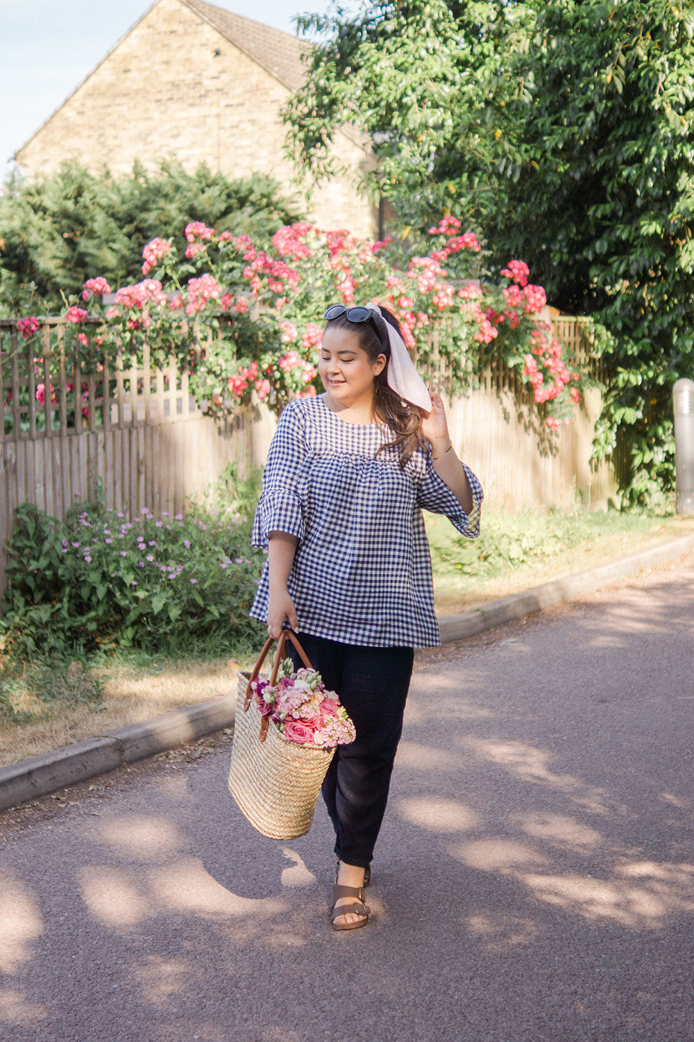 gingham-straw-bag-summer-style-ootd