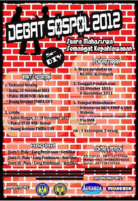 DEBAT SOSPOL 2012