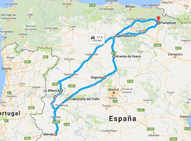 Ruta en autocaravana por Castilla León y Extremadura
