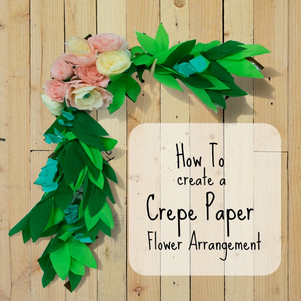 How to create a crepe paper swag part two the fogue abode blog that is how i made the crepe paper flower swag for less than 10 if i were to buy something similar with real flowers this arrangement would be upward of mightylinksfo