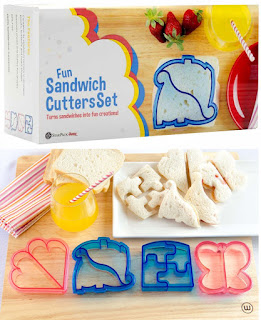 Image: StarPack Kids Sandwich Cutter Set of 4 - Sandwich and Bread Crust Cutters in 4 Cute Shapes