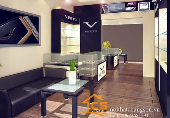 Thiết kế nội thất cửa hàng điện thoại đẹp, thi công nội thất cửa hàng điện thoại chuyên nghiệp
