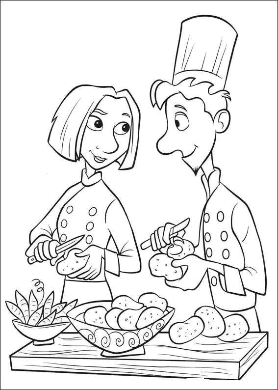 master chefs coloring pages from disney cartoon movie